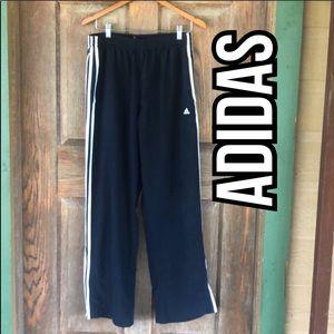 Adidas Navy Blue White Stripes Pants Size Large